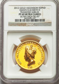 Ascension Island, Ascension Island: Elizabeth II Proof gold 50 Pounds 2012 PR69 UltraCameo (Ultra High Relief) NGC,...