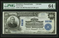 National Bank Notes:Pennsylvania, Stoneboro, PA - $10 1902 Plain Back Fr. 624 The First NB Ch. #6638. ...