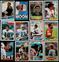 Football Cards:Sets, 1980-85, 87-88 Topps Football Complete/Near Sets Collection (8)....