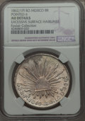 Mexico, Mexico: Republic 8 Reales 1862/1 Pi-RO AU Details (ExcessiveSurface Hairlines) NGC, ...