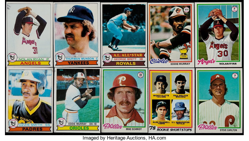 1978 And 1979 Topps Baseball Complete Sets 2 Baseball