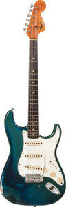 Musical Instruments:Electric Guitars, 1966 Fender Stratocaster Lake Placid Blue Solid Body ElectricGuitar, Serial # 171632....