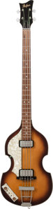 "Musical Instruments:Bass Guitars, 2000's Hofner 500/1 ""Beatle"" Sunburst Electric Bass Guitar...."