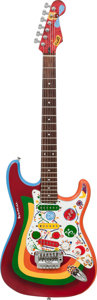 "Musical Instruments:Electric Guitars, 1990's Custom Built George Harrison ""Rocky"" Tribute FenderStratocaster Multi-Color Solid Body Electric Guitar...."