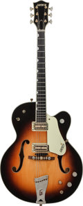 Musical Instruments:Electric Guitars, 1963 Gretsch Country Club Sunburst Semi-Hollow Body Electric Guitar, Serial # 59333....