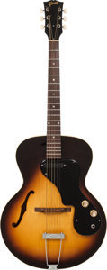 Musical Instruments:Electric Guitars, 1967 Gibson ES-120 T Sunburst Semi-Hollow Body Electric Guitar,Serial # 846925....