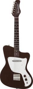 Musical Instruments:Electric Guitars, 1967 Danelectro Dane Textured Brown Solid Body Electric Guitar....