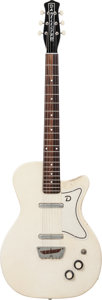 Musical Instruments:Electric Guitars, 1957 Danelectro U2 White Ostrich Solid Body Electric Guitar....