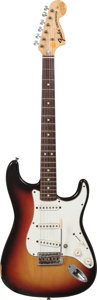 Musical Instruments:Electric Guitars, 1971 Fender Stratocaster Sunburst Solid Body Electric Guitar, Serial # 337273....