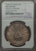 Mexico, Mexico: Republic 8 Reales 1858 Pi-MC UNC Details (SurfaceHairlines) NGC,...