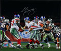 Football Collectibles:Photos, Eli Manning Signed Oversized Photograph. ...