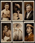 """Non-Sport Cards:Singles (Pre-1950), 1936 Mitchell's Cigarettes """"A Gallery of 1935"""" Complete Set (50)...."""