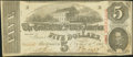 Confederate Notes:1863 Issues, T60 $5 1863 PF-4 Cr. 450.. ...