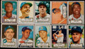 Baseball Cards:Lots, 1952 Topps Baseball (Low Series #'s 1-310) Partial Set (145) WithTwo High Numbers....