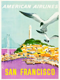 "Movie Posters:Miscellaneous, San Francisco by American Airlines (1950s). Travel Poster (30"" X40"").. ..."
