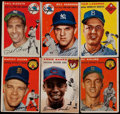Baseball Cards:Lots, 1954 Topps Baseball Collection (45) With Banks & Kaline....