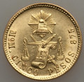 Mexico, Mexico: Republic gold 5 Pesos 1904 Mo-M UNC - Cleaned,...
