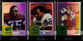 Football Cards:Lots, 2002-05 eTopps Classic Football Autograph Card Trio (3)....