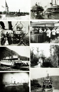 Books:Prints & Leaves, [Steamboats, Steamships]. Archive of Approximately 120 Photographsand Press Prints Depicting Steamboats and Steamships....