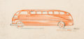 Works on Paper, Viktor Schreckengost (American, 1906-2008). Industrial Design Drawing for the Steelcraft Toy World's Fair Bus, 1939. Col...