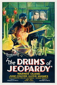 """The Drums of Jeopardy (Tiffany, 1931). One Sheet (27.5"""" X 41"""")"""
