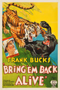 "Movie Posters:Adventure, Bring 'Em Back Alive (RKO, 1932). One Sheet (27"" X 41"").. ..."