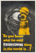 """Movie Posters:Horror, Peeping Tom (Anglo Amalgamated, 1960). British Double Crown (20"""" X 30"""") Advance Style.. ..."""