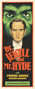 "Movie Posters:Horror, Dr. Jekyll and Mr. Hyde by Arthur K. Miller (2015). OriginalArtwork Cloth Banner (24"" X 60"").. ..."