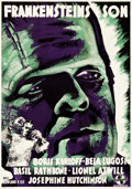 "Movie Posters:Horror, Son of Frankenstein (Universal, 1939). Swedish One Sheet (27.5"" X39.5"").. ..."