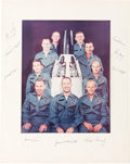 Explorers:Space Exploration, NASA Astronaut Group Two: Large Color Photo Signed on the Mat byAll Nine. ...