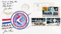 """Apollo 15 Lunar Module Flown """"Sieger"""" Crew-Signed Cover, Serial Number 057, One of 100 Sent to and Sold by Her..."""