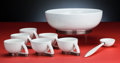 Ceramics & Porcelain, American:Modern  (1900 1949)  , Paul Schreckengost (American, 1908-1983). Tom & Jerry Punch Bowl Set, 1938, Gem Clay Forming Company, Sebring, Ohio. Gla... (Total: 9 Items)
