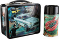 "Movie Posters:James Bond, James Bond Lunchbox with Thermos (Aladdin Industries, 1966).Lunchbox (4"" X 7"" X 8"") & Thermos (3.25"" X 3.25"" X 6.5"").. ...(Total: 2 Items)"