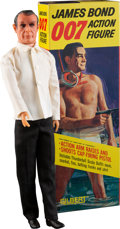 "Movie Posters:James Bond, Goldfinger: James Bond (Gilbert, 1965). Action Figure with Loose Accessories (2.5"" X 4.25"" X 12.5"") & Outfit and Accessory S... (Total: 5 Items)"
