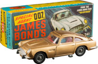 "Goldfinger - Corgi 261 James Bond Aston Martin Toy (Corgi, 1965). Die-Cast Model Car in Original Packaging (5"" X 1..."