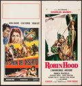"""Movie Posters:Adventure, Prisoners of the Casbah & Other Lot (Columbia, 1954). ItalianLocandinas (2)(13"""" X 27.25"""", 13"""" X 27.5""""). Adventure.. ... (Total:2 Items)"""