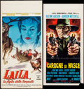 "Movie Posters:Foreign, Make Way for Lila & Others Lot (Parade Releasing, 1962). Italian Locandinas (3) (12.5"" X 25.25"", 13"" X 27.25"", 13"" X 27.75"")... (Total: 3 Items)"