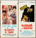 "Movie Posters:War, The Devil's Brigade & Other Lot (United Artists, 1968). ItalianLocandinas (2) (13"" X 27.25""). War.. ... (Total: 2 Items)"