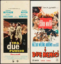 "Movie Posters:Comedy, The Best of Enemies & Other Lot (Dine De Laurentiis, 1961).Italian Locandinas (2) (13.25"" X 27.25"" & 13"" X 27.75"").Comedy.... (Total: 2 Items)"