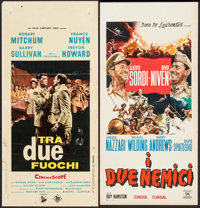"The Best of Enemies & Other Lot (Dine De Laurentiis, 1961). Italian Locandinas (2) (13.25"" X 27.25"" &a..."