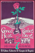 "Movie Posters:Rock and Roll, Canned Heat and The Chamber Bros. at El Campin (Gold Leaf Productions, 1973). Columbian Concert Poster (13.25"" X 20""). Rock ..."