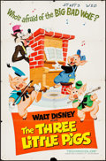 """Movie Posters:Animation, The Three Little Pigs (Buena Vista, R-1969). One Sheet (27"""" X 41"""").Animation.. ..."""
