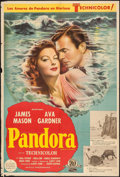 """Movie Posters:Romance, Pandora and the Flying Dutchman (MGM, 1951). Argentinean Poster (29"""" X 43""""). Romance.. ..."""