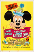 """Movie Posters:Animation, Mickey Mouse Happy Birthday Show (Buena Vista, R-1968). One Sheet(27"""" X 41""""). Animation.. ..."""