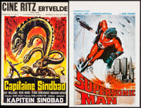 "Supersonic Man & Other Lot (Cosmopolis Films, 1980). Belgian Posters (2) (13.5"" X 21"" & 14.25&..."