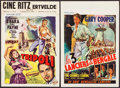 "Movie Posters:Adventure, The Lives of a Bengal Lancer & Other Lot (Paramount, R-1940s).Belgians (2) (14.5"" X 21.5""). Adventure.. ... (Total: 2 Item)"