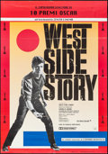 "Movie Posters:Academy Award Winners, West Side Story (Zenith Cinema, R-1980). Italian 2 - Foglio (38.25""X 55""). Academy Award Winners.. ..."