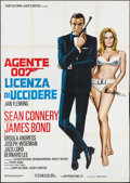 "Movie Posters:James Bond, Dr. No (United Artists, R-1970s). Italian 4 - Foglio (55.25"" X 78""). James Bond.. ..."