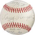 Baseball Collectibles:Balls, 1968 New York Mets Team Signed Baseball. ...