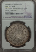 Mexico, Mexico: Republic 8 Reales 1849 Do-CM UNC Details (Excessive SurfaceHairlines) NGC,...